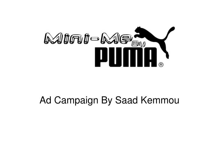 Ad campaign by saad kemmou