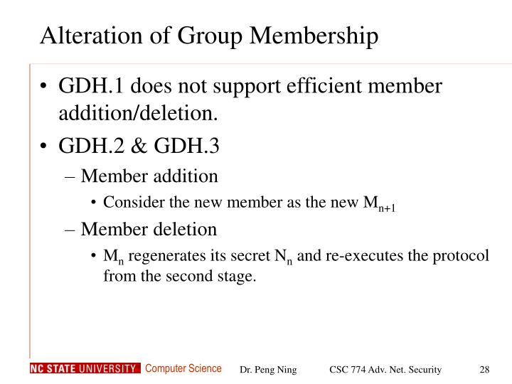 Alteration of Group Membership