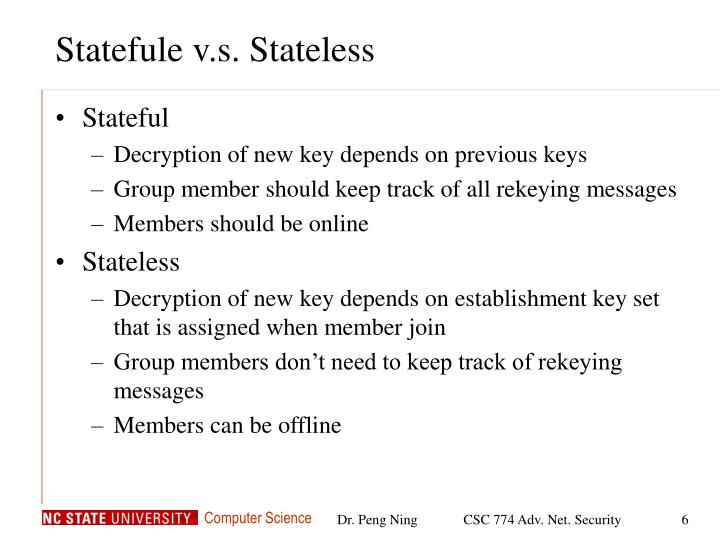 Statefule v.s. Stateless