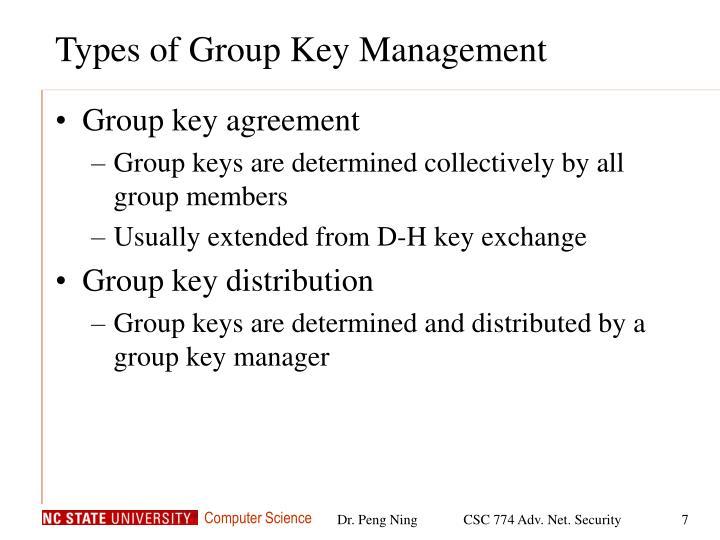 Types of Group Key Management
