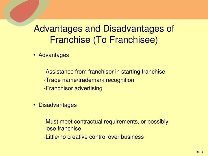 Advantages and Disadvantages of Franchise (To Franchisee)