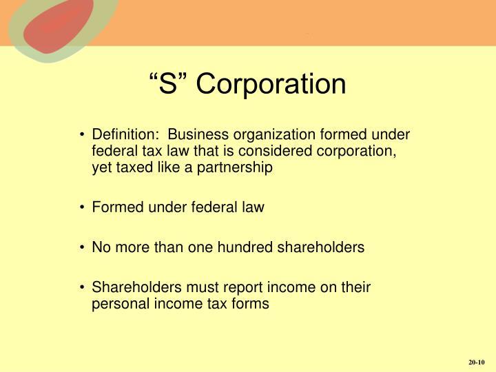 """S"" Corporation"