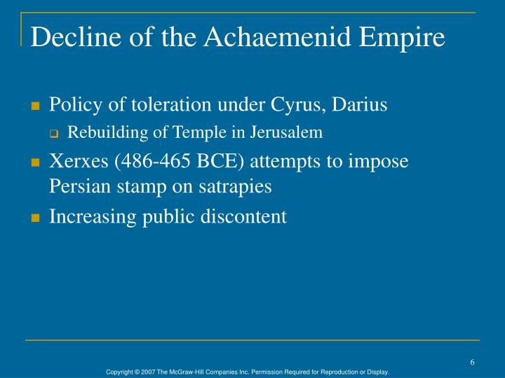 Decline of the Achaemenid Empire