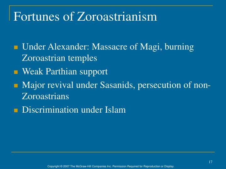 Fortunes of Zoroastrianism