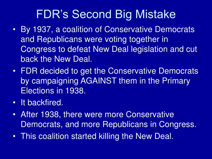 FDR's Second Big Mistake