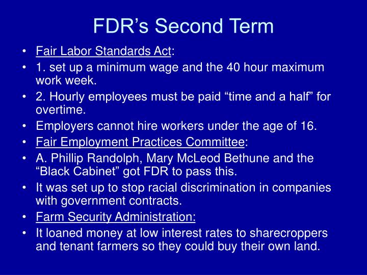 FDR's Second Term
