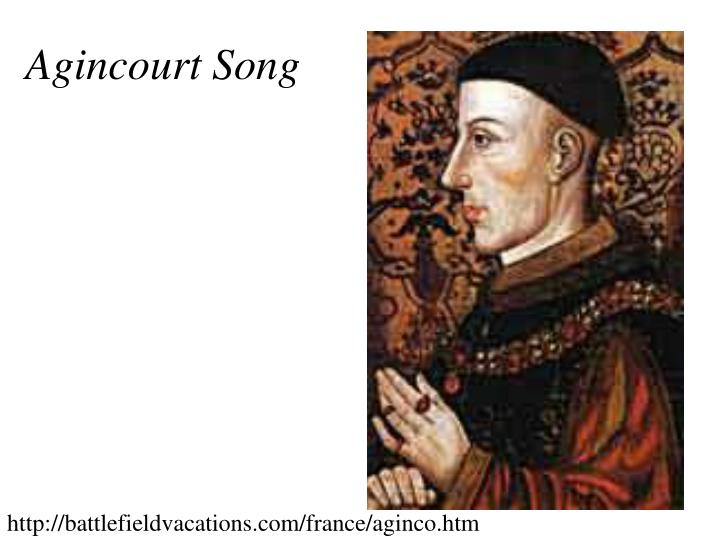 Agincourt Song