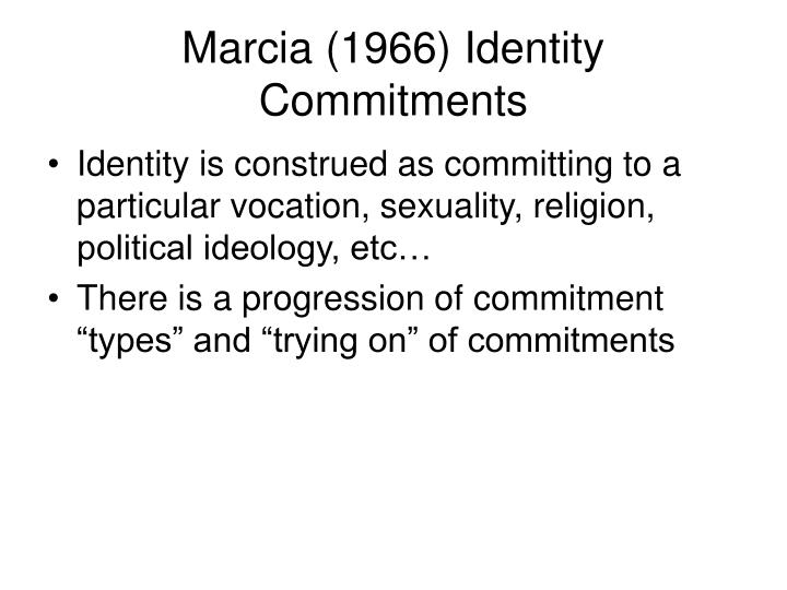 Marcia (1966) Identity Commitments