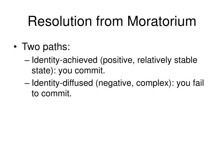 Resolution from Moratorium