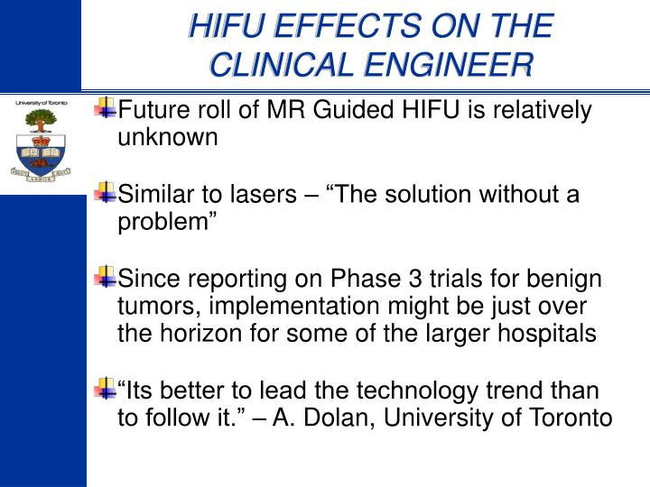 HIFU EFFECTS ON THE