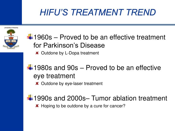 HIFU'S TREATMENT TREND