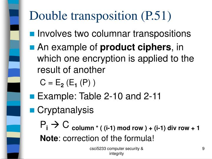 Double transposition (P.51)