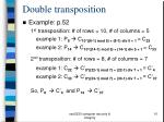 double transposition