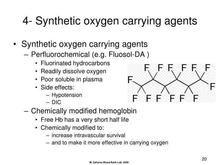 4- Synthetic oxygen carrying agents
