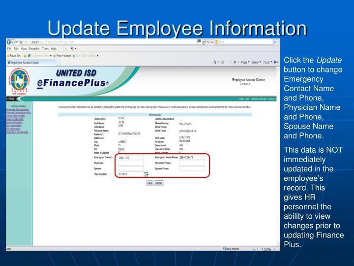 Update Employee Information