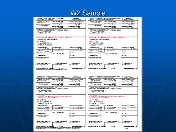 W2 Sample