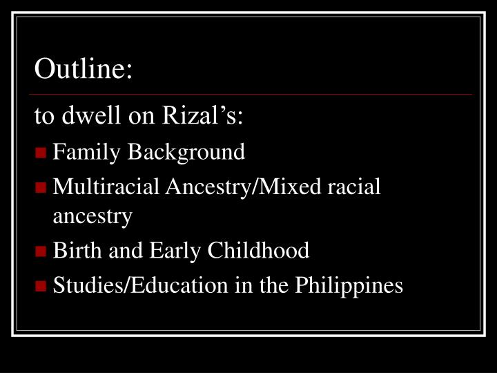 Rizal's Early Life and Education Essay
