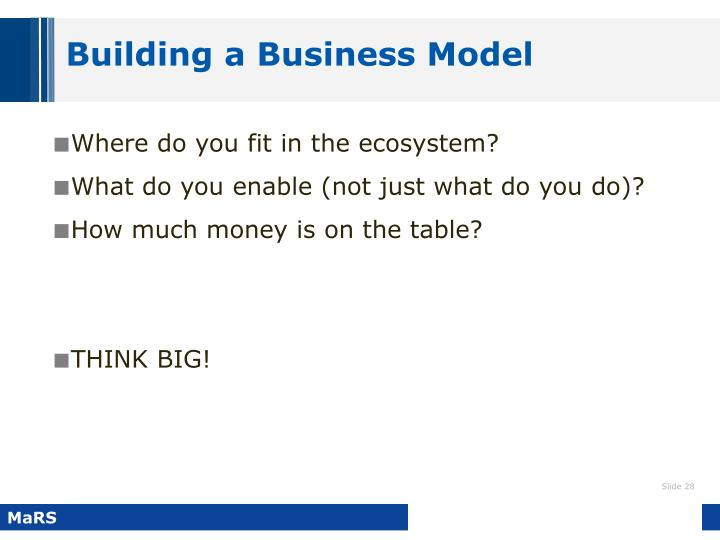 Building a Business Model
