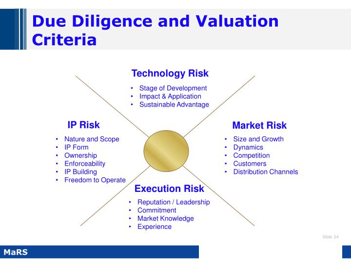 Due Diligence and Valuation Criteria