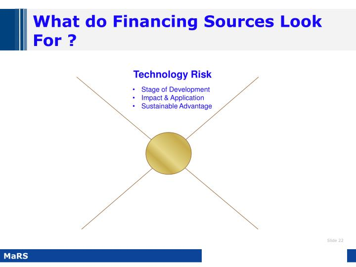 What do Financing Sources Look For ?
