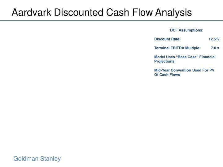 Aardvark Discounted Cash Flow Analysis