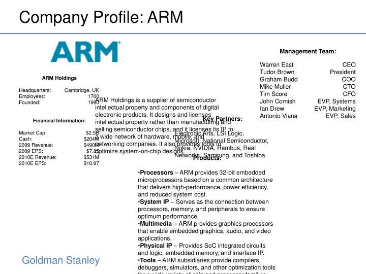 Company Profile: ARM