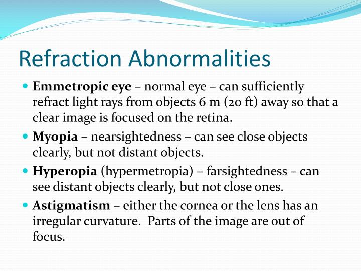 Refraction Abnormalities