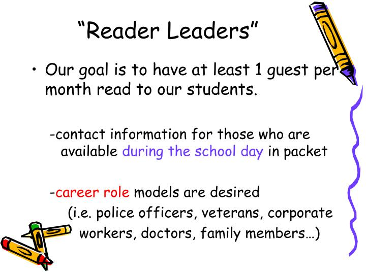 """Reader Leaders"""