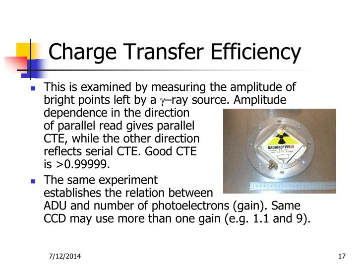 Charge Transfer Efficiency