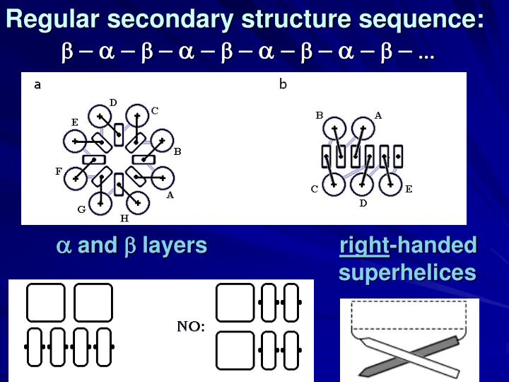 Regular secondary structure sequence: