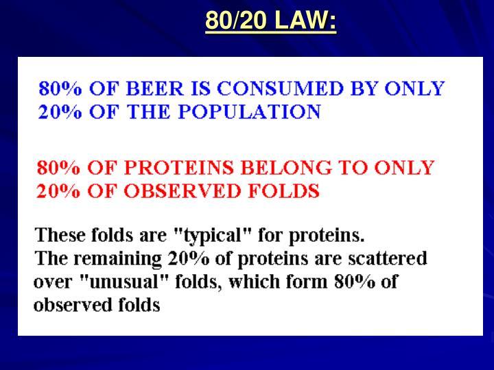 80/20 LAW:
