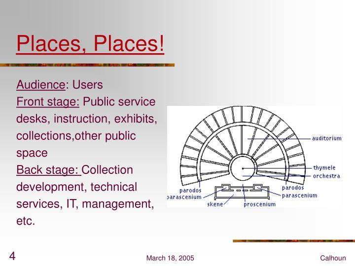 Places, Places!