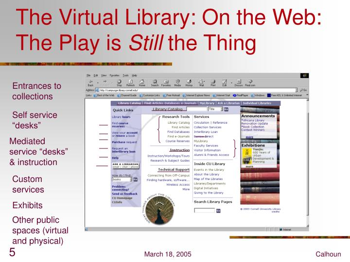 The Virtual Library: On the Web: The Play is