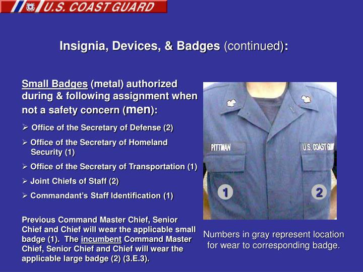 Insignia, Devices, & Badges