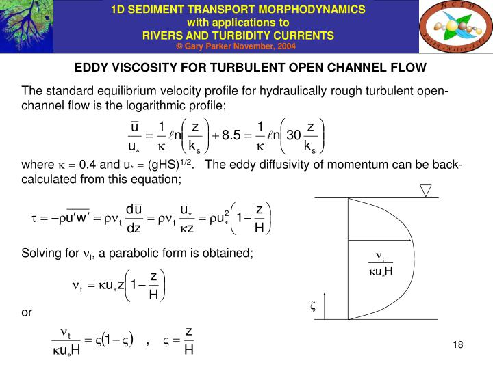EDDY VISCOSITY FOR TURBULENT OPEN CHANNEL FLOW