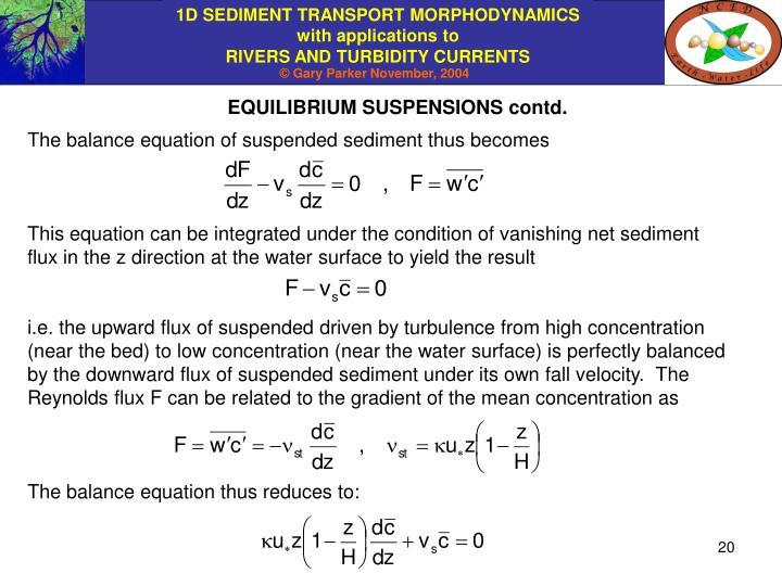 EQUILIBRIUM SUSPENSIONS contd.