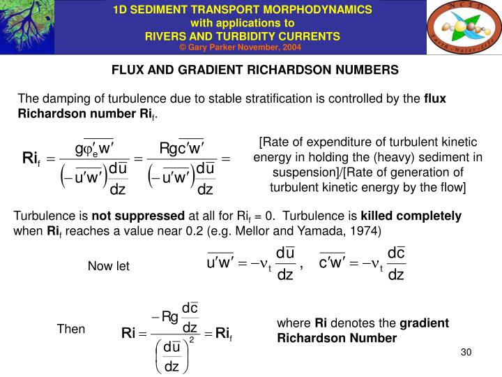 FLUX AND GRADIENT RICHARDSON NUMBERS