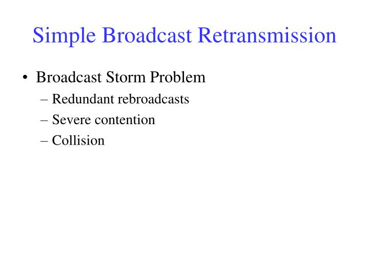 Simple Broadcast Retransmission
