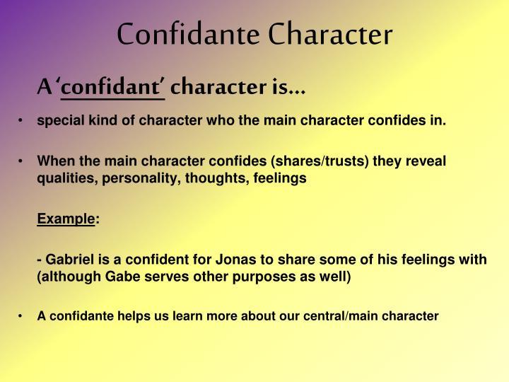 Confidante Character