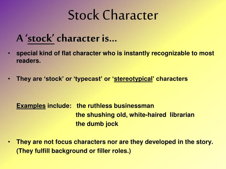 Stock Character