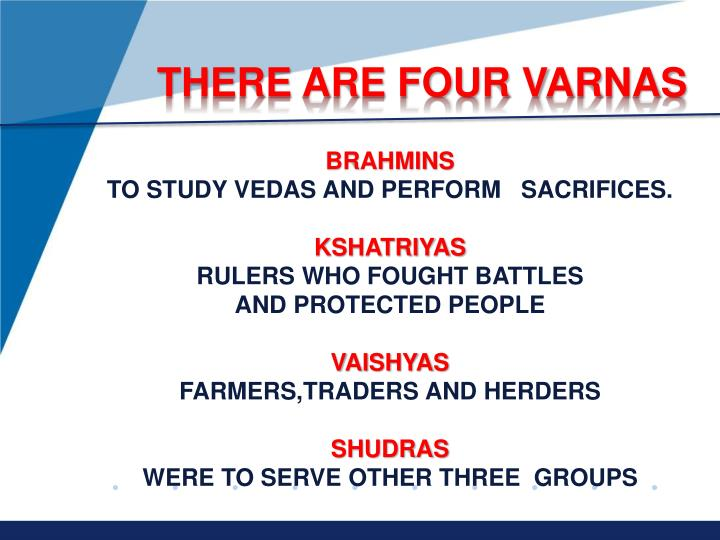 THERE ARE FOUR VARNAS