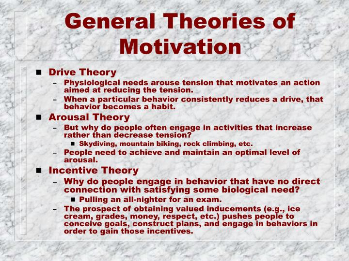General Theories of Motivation