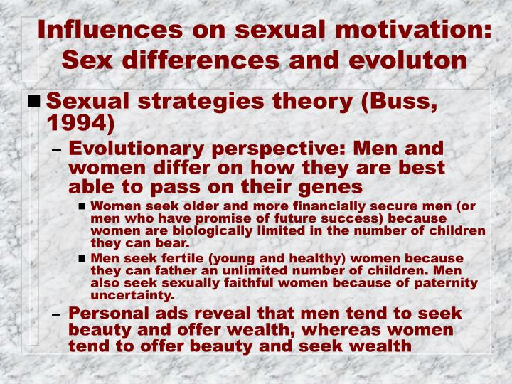 Influences on sexual motivation: Sex differences and evoluton