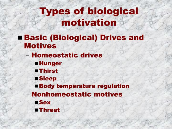 Types of biological motivation