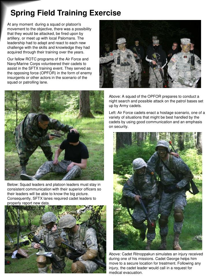 Spring Field Training Exercise