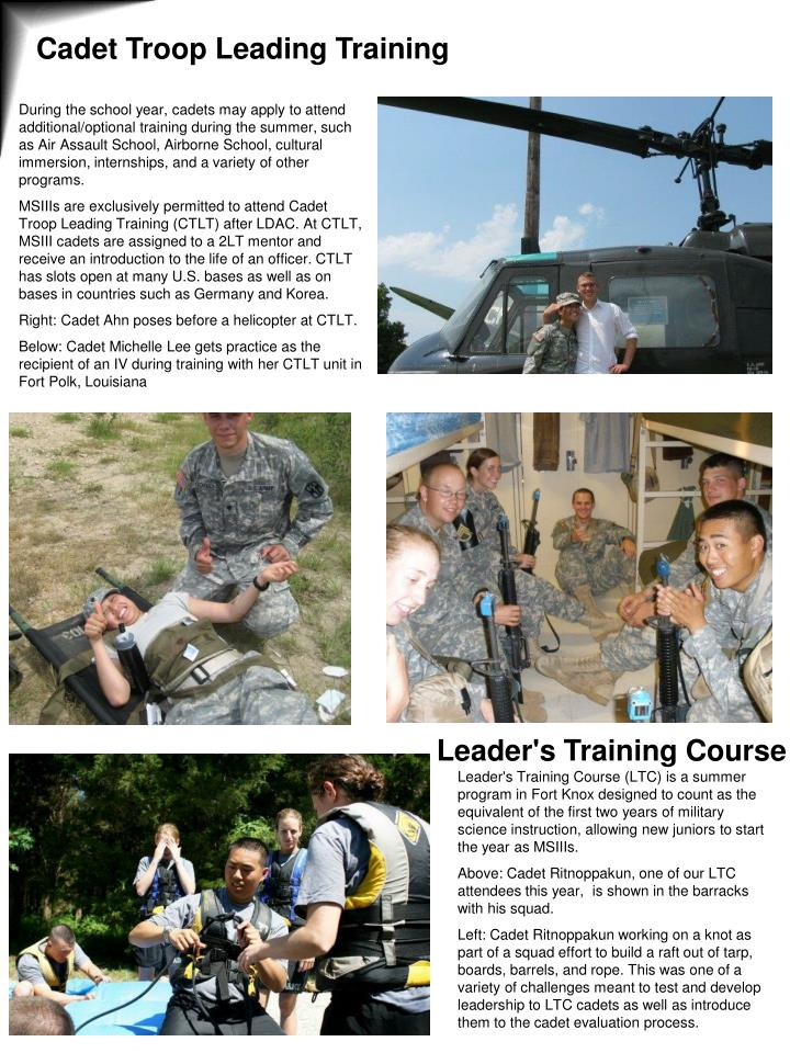 Cadet Troop Leading Training