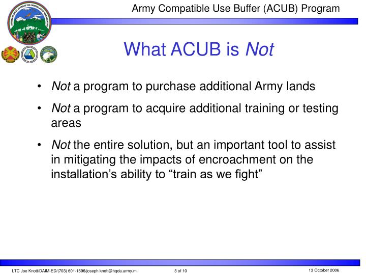 What acub is not