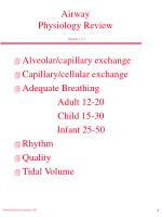 airway physiology review module 2 2 1