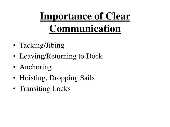 Importance of Clear Communication