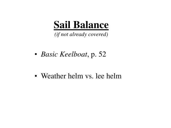 Sail Balance
